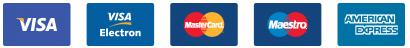 Přijímané platební karty: Visa, MasterCard, American Express